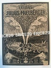 Ex Libris Julius Mülberger Bookplate By Cousin Artist Marian H. Mülberger MHM