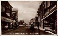 Sutton in Ashfield. Low Street & Market Place # H1314 by Valentine's. Melias Ltd