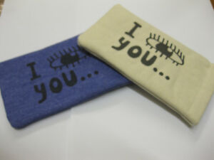 SPRING TOP GLASSES CASE I SEE YOU BLUE OR CREAM PRESENT BARGAIN MATERIAL NEW