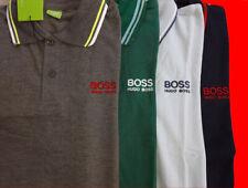 Men's T-Shirts NWT Boss Hugo Boss Jacquard Polo Collar Short Sleeve 100% Cotton