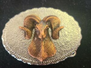 Ram Belt Buckle Silver