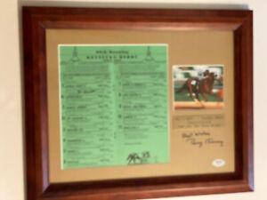 Secretariat 1973 Kentucky Derby Original Program Signed Framed Ron Turcotte PSA