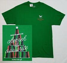Christmas RED CUPS Beer Pong HAWAIIAN T-Shirt Mens LARGE Green Holiday Tree NEW