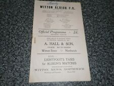 More details for witton albion ( northwich )  v  mossley  1949/50 ~ september 14th  **free post**