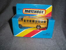 281B Vintage Matchbox 1981 MB 47 Bus School Bus School District 2 US 1:76