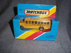 281B Vintage Matchbox 1981 MB 47 Autobus per la Scuola Quartiere 2 US 1:76