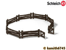 Schleich WOODEN LOOK FENCE WITH GATE plastic toy animal containment * NEW 💥