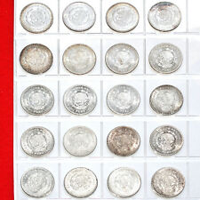 MEXICO 1 PESO SILVER ISSUE COINS MIXED DATES AU MORELOS ISSUE (20 SILVER COINS)