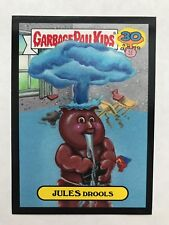 Garbage Pail Kids 2015 Series 2 30th #6a JULES DROOLS Don't Push My Button BLACK