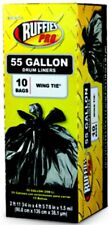 Ruffies Pro 1124920 55 Gallon Black Contractor Clean-Up Bags 10 Count,No 1124920