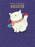 Daughter Cute Pom Pom Christmas Greeting Card Special Xmas Cards