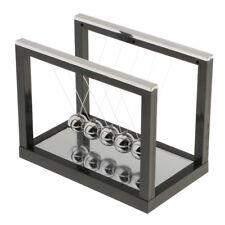 Black Newtons Cradle Balance Balls Physics Science Toys Desk Accessories - S