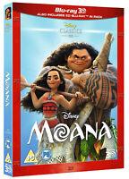 MOANA [Blu-ray 3D + Blu-ray] (2016) Disney UK Exclusive 3D Release 2-Disc Set