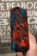 Stabilized & Dyed Box Elder Burl Knife Block      5 x  1.85 x 1.20     (5621)
