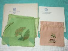 Handpainted Hankie & Embroidered Pouch - Notre Dame Industrial School