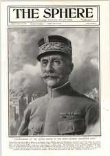 1918 General Ferdinand Foch Portrait Ugo Matania