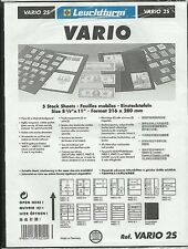 LIGHTHOUSE Vario 2s Pack of 5 Two Strip Black Acid Banknote Pages