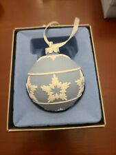 Blue Jasperware Star Relief Christmas Ornament
