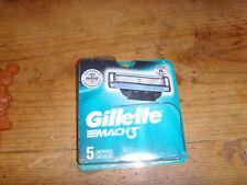 NEW NIP Gillette Mach3 package of 5 razor cartridges Brand new blades shaving