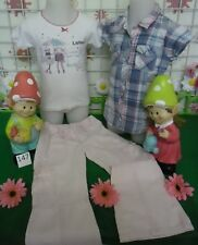 vêtements occasion fille 4 ans,chemisette HetM,t-shirt ABSORBA,pantalon BENETTON