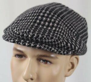 Polo Ralph Lauren Black Cream Wool Newsboy Beret Cap Hat NWT