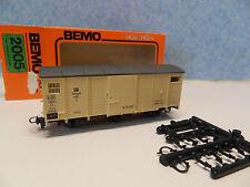 HH23) wagon couvert BEMO 2005 pour  train electrique HOe - HOm voie etroite