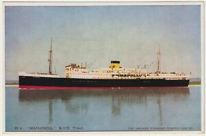 M.V. Manunda, Adelaide Steamship Company - Vintage Postcard