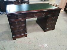 "STUNNINGLY RESTORED ANTIQUE STYLE MAHOGANY 4ft6"" x 2ft3"" REPRODUCTION DESK"