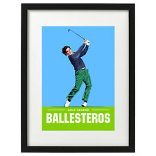 Seve Ballesteros golf art print / poster
