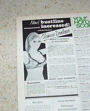 1970 print ad page -Glamour Plan breast Bust developer SEXY GIRL bustline Advert