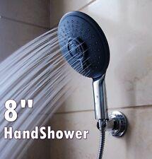 "8"" Handheld High Pressure Shower Head 6 Ft Stainless Steel Shower Hose"