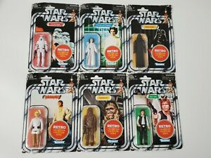 STAR WARS Complete Wave 1 Retro Collection Action Figures (Bent Creased Corners)