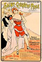 Saint Quentin Plage 1897 by Ferdinand Sigismund Bac A1 Quality Canvas Print