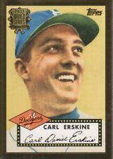 2002 Topps 1952 Reprint Baseball #52R-3 Carl Erskine Brooklyn Dodgers