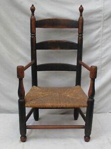 Antique American Slat Back Child's Chair c. 1820
