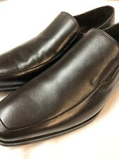 BRUNOMAGLI: PITTO LEATHER SLIP-ON DARK BROWN DRESS OR CASUAL 10.5 MSRP: $420 NWT