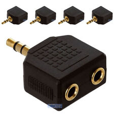 5 x 3.5mm Mini Stereo Jack Headphone Splitter Adapter Male to 2 Female Sockets