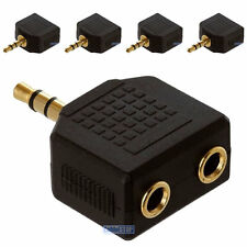 5 x 3,5 mm Mini Stereo Jack per Cuffie Splitter Adattatore Maschio a 2 socket Femmina