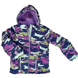 Obermeyer Girls Ski Jacket Sz 8 Hooded Multicolor Coat I-Grow Compass