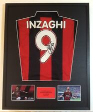 Filipino Inzaghi AC Milan Football Hand Signed Mounted Shirt