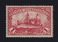 German Southwest Africa Sc #22 (1901) 1m carmine Yacht Mint VF NH