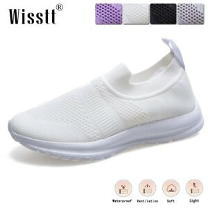 Womens Casual Knit Ankle Walking Sneakers Athletic Jogging Workout Sports Shoes