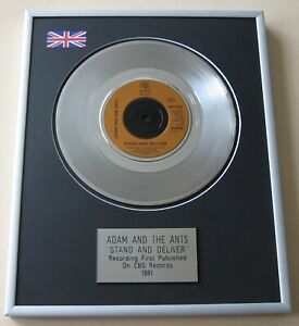 ADAM & THE ANTS Stand And Deliver PLATINUM PRESENTATION DISC