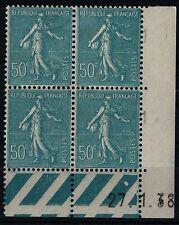 Coin Daté SEMEUSE 50c du 27.1.38 Neufs */** = Cote 18 € / Lot Timbres France 362