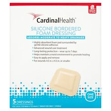 """Cardinal Health BFM66RR 6"""" x 6"""" Silicone Bordered Foam Sterile Dressings, 120 CT"""