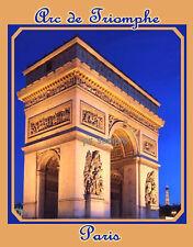 France - Paris - ARC DE TRIOMPHE - Travel Souvenir Flexible Fridge Magnet