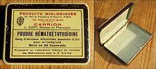boite litho Médicale produit biologique Carrion Paris poudre Hématoéthyroïdine