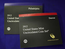 """2012 U.S. Mint Set. Complete. 28 Total Coins 14 each from """"P"""" and """"D"""" Mints."""