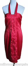 New Womens Halter Neck Red NEXT Tailored Party Dress Size 14 RRP £55