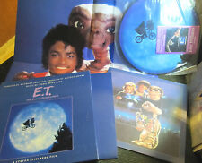 MICHAEL JACKSON box set LP E.T. picture disc w/crd book POSTER orig '82 ET OST!